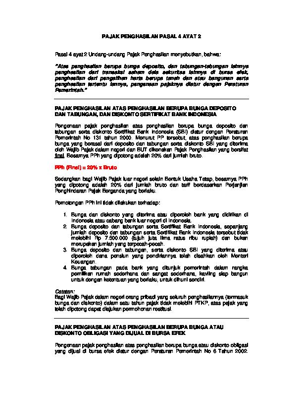 Pdf Pajak Penghasilan Pasal 4 Ayat 2 Rizal Alamsyah Academia Edu