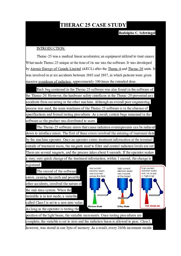 therac-25 case study ethics