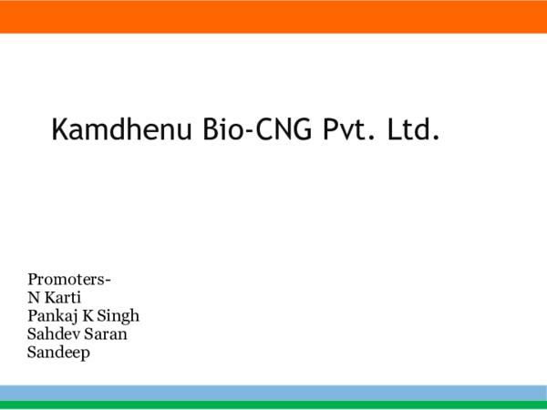 PPT) Kamdhenu Bio-CNG v1 | Sahdev Saran - Academia edu