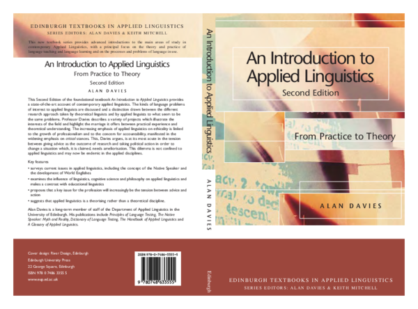 PDF) An Introduction to Applied Linguistics Second Edition