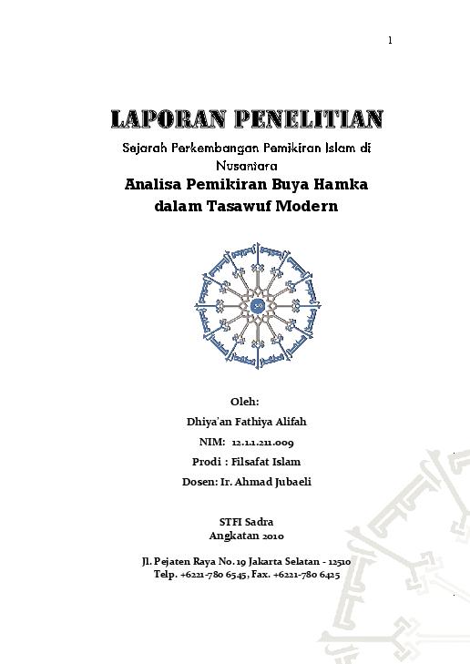 Tasawuf modern pdf buku buya hamka