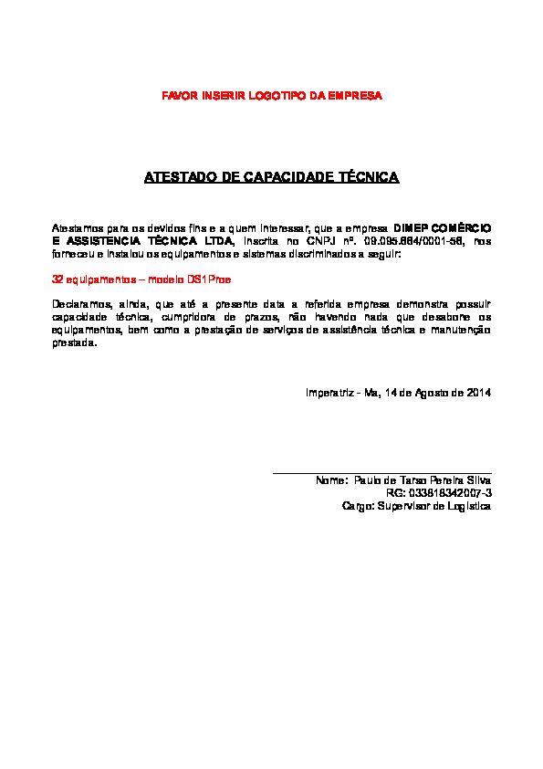Doc Modelo De Atestado Orsely Santos Academiaedu