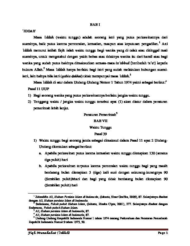 Doc Bab Iddah Maryam Hito Academia Edu