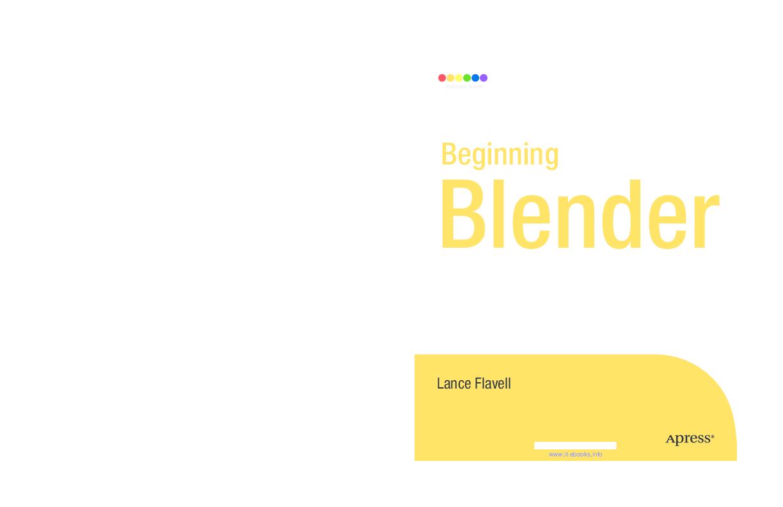 PDF) Beginning Blender Open Source 3D Modeling, Animation