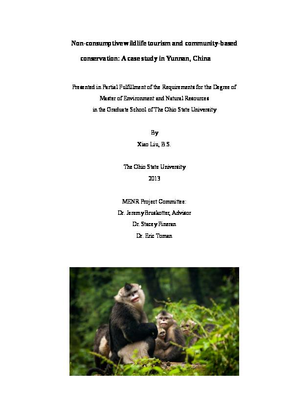 conservation tourism buckley r c