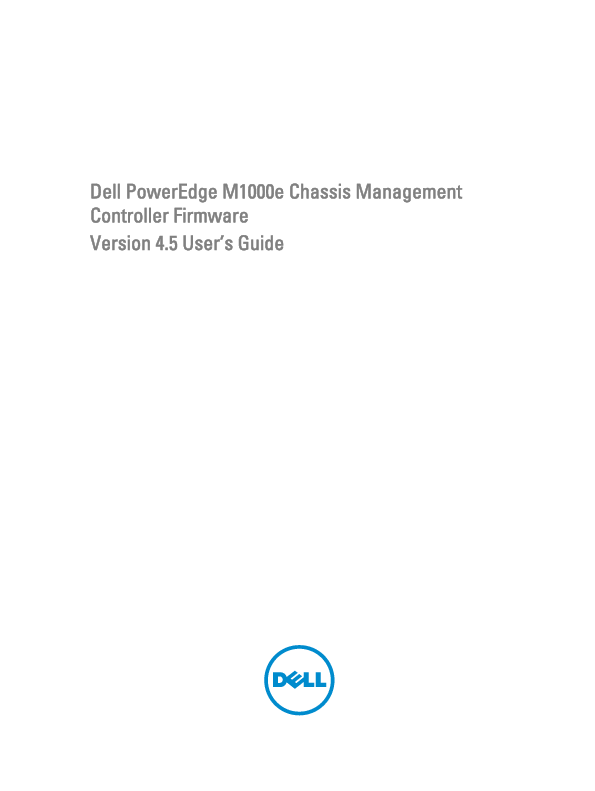 PDF) Dell PowerEdge M1000e Chassis Management Controller