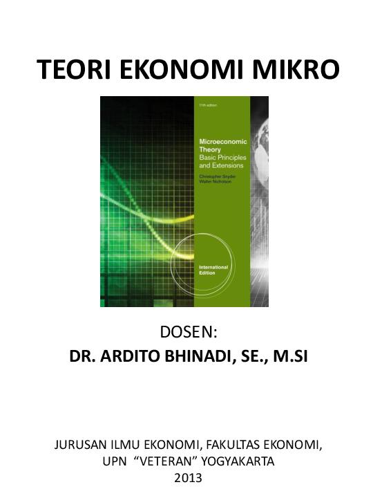 Materi Ekonomi Mikro Pdf