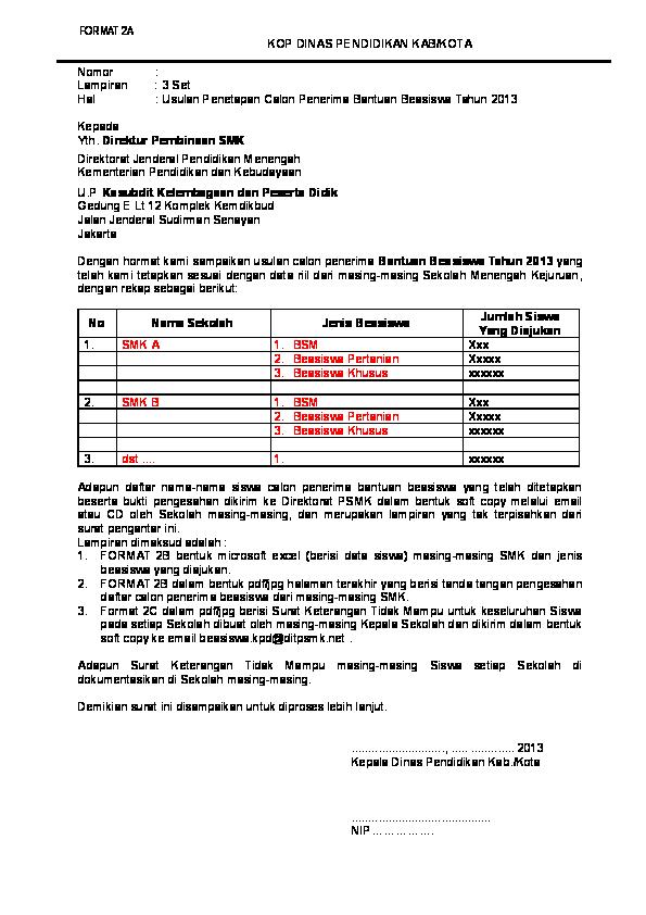 Doc Format 2a Surat Pengantar Beasiswa Igoy Hartanto