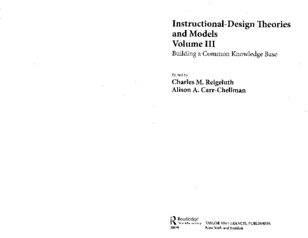 Pdf Instructional Design Theories And Models Joshua Leong Academia Edu