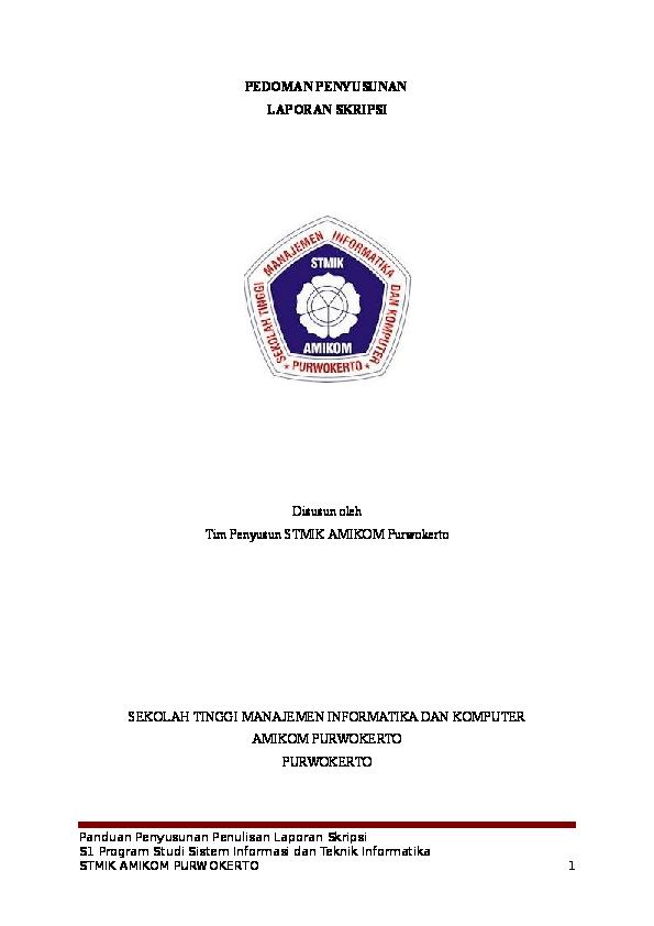 Doc Pedoman Penyusunan Laporan Skripsi Disusun Oleh Hardi Sunaryo Academia Edu