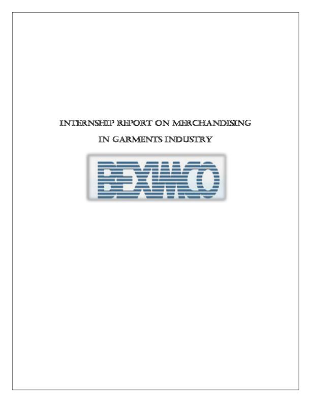 PDF) INTERNSHIP REPORT ON MERCHANDISING IN GARMENTS INDUSTRY