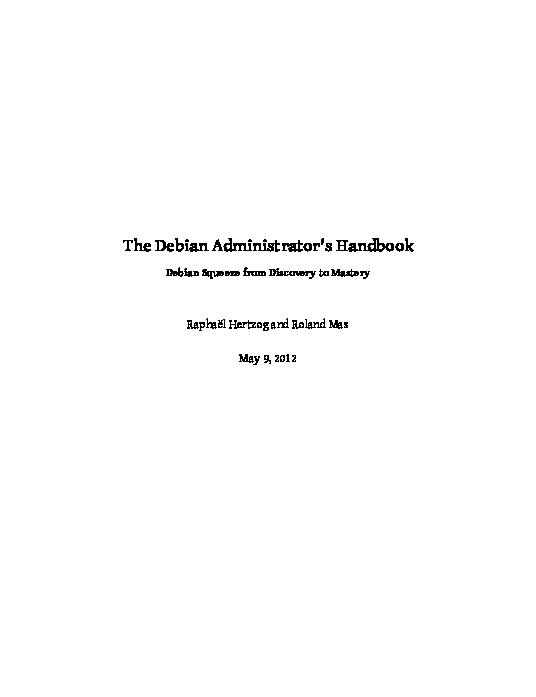 PDF) The Debian Administrator's Handbook Debian Squeeze from