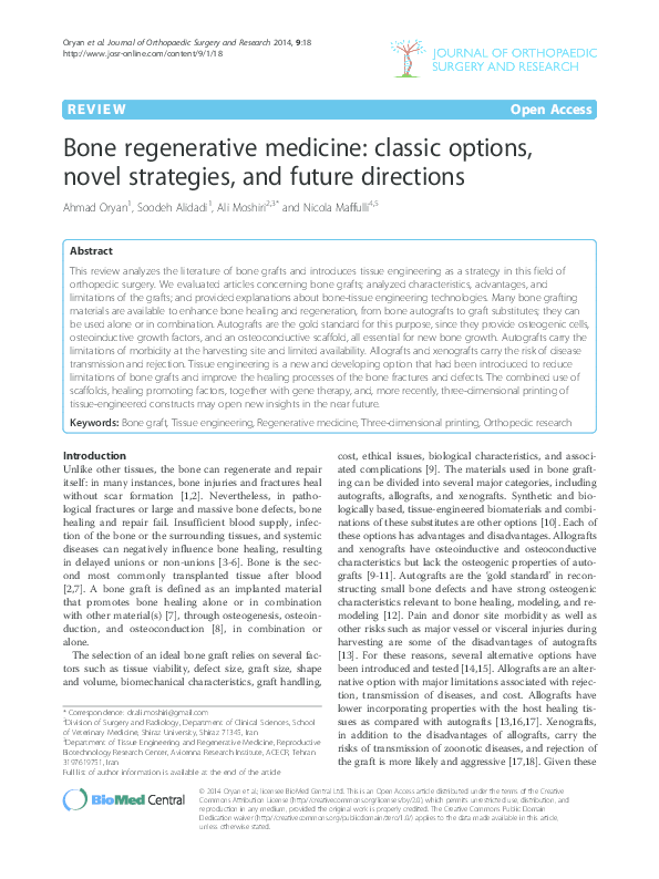 Future Directions in Regenerative Medicine