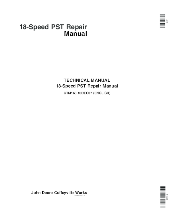 PDF) Speed Pst Repair Manual-CTM168 | JHOAN MANUEL