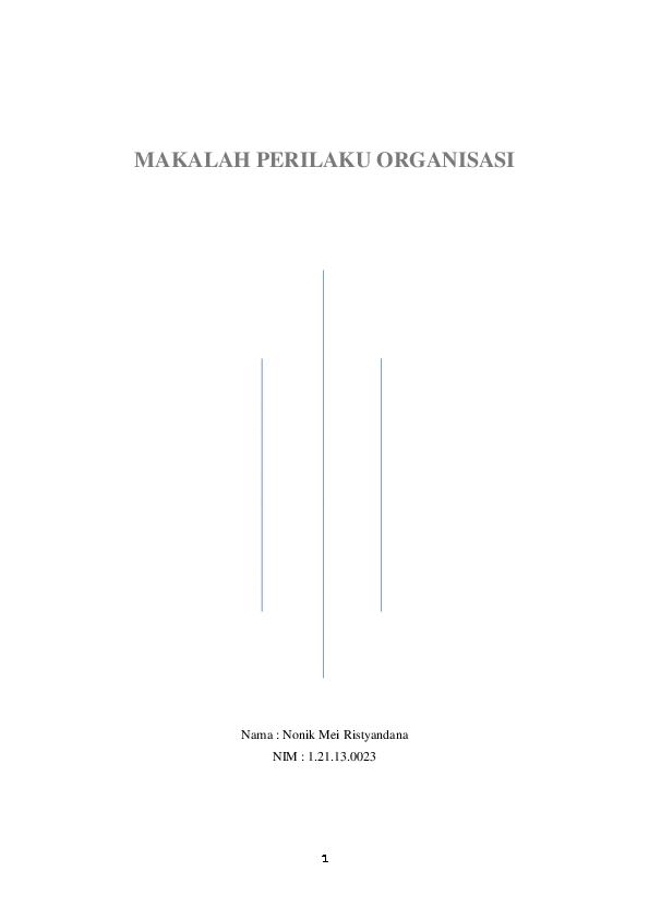 Doc Makalah Perilaku Organisasi Nonik Mei Academia Edu