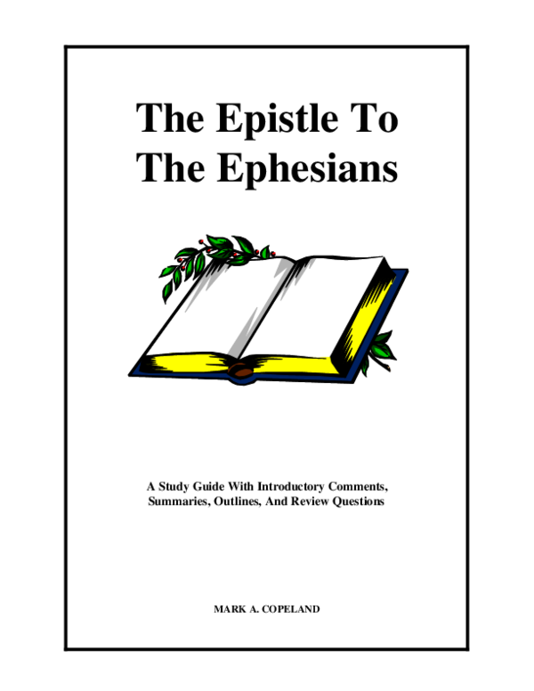 (PDF) The Epistle To The Ephesians A Study Guide With