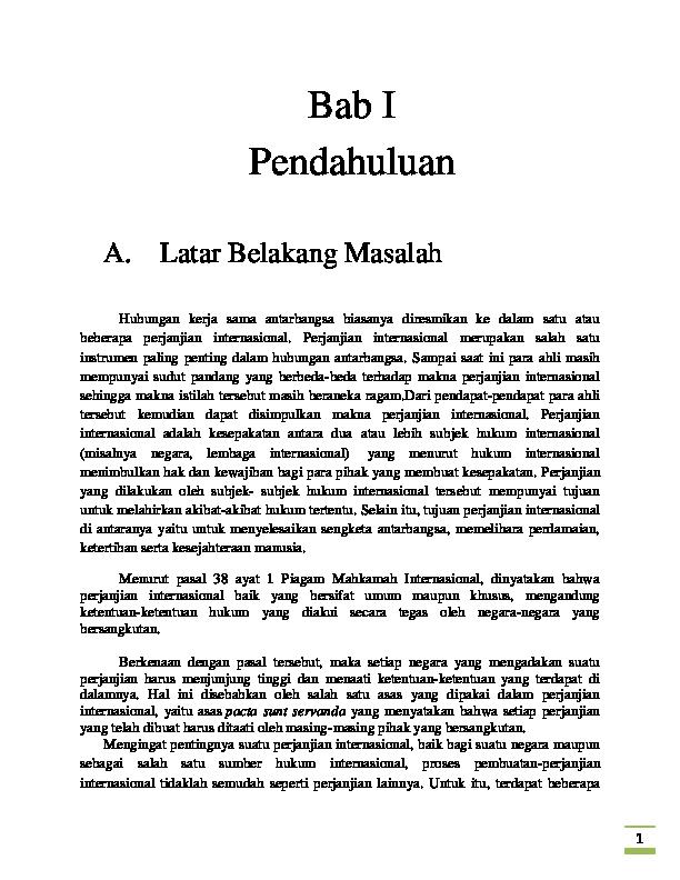 Makalah Perjanjian Internasional Retno Mayapada Academia Edu