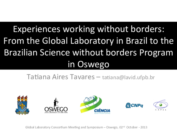 PDF) Experiences working without borders: From the Global