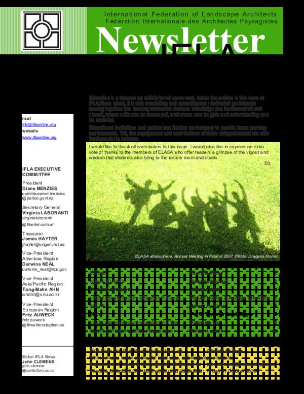 PDF) Landscape Architecture Education in Europe   Robert