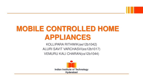 PPT) Mobile controlled home appliances 1 | Muhammad Ahmed