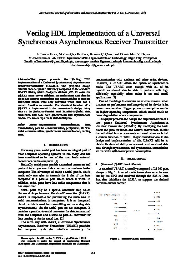 PDF) USART Research Paper   Tushar Jain - Academia edu