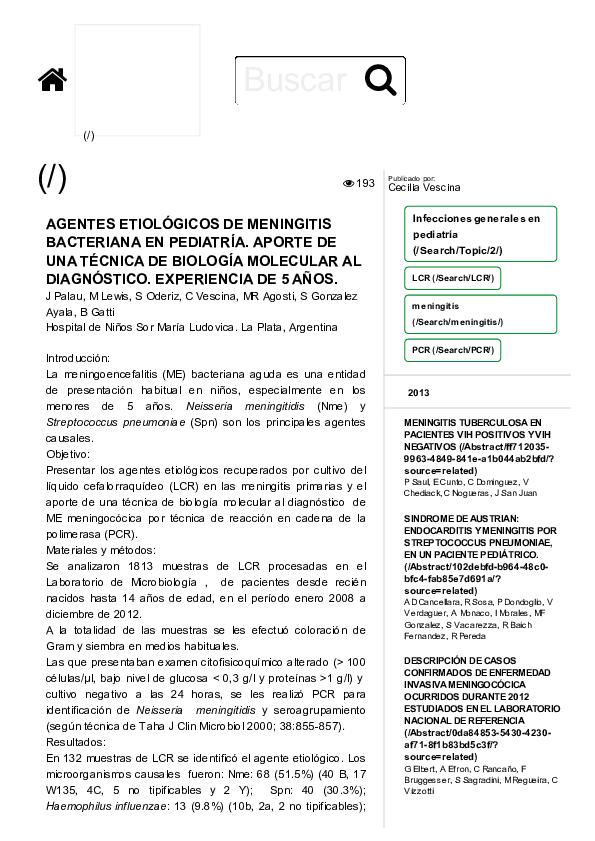 tratamiento de meningitis bacteriana en niños pdf