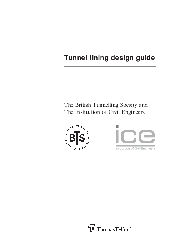 PDF) Tunnel lining design guide The British Tunnelling