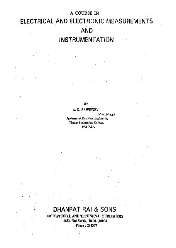 Instrumentation download k free a sawhney ebook