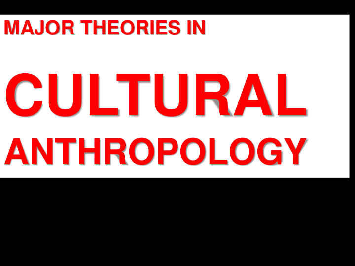 Ppt Theories In Cultural Anthropology Mark Jc Adigue Academia Edu