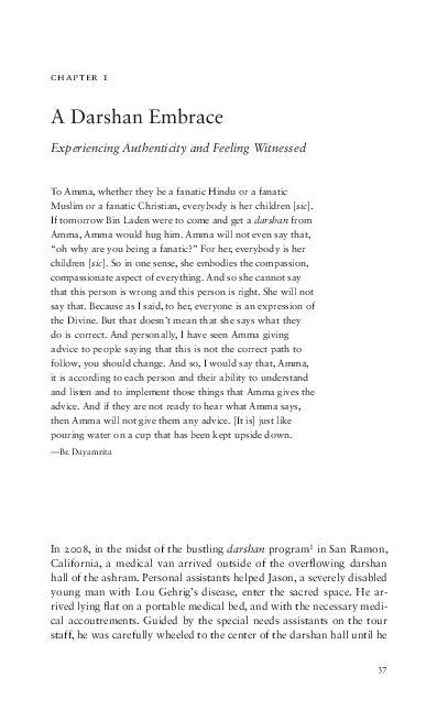 PDF) Reflections of Amma: Devotees in a Global Embrace | Amanda J
