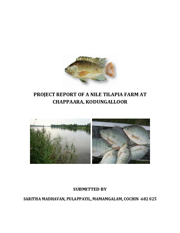 DOC) PROJECT REPORT OF A NILE TILAPIA FARM AT CHAPPAARA