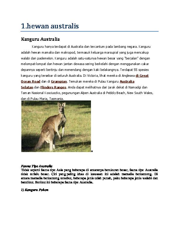 56 Koleksi Gambar Hewan Tipe Australia Terbaik
