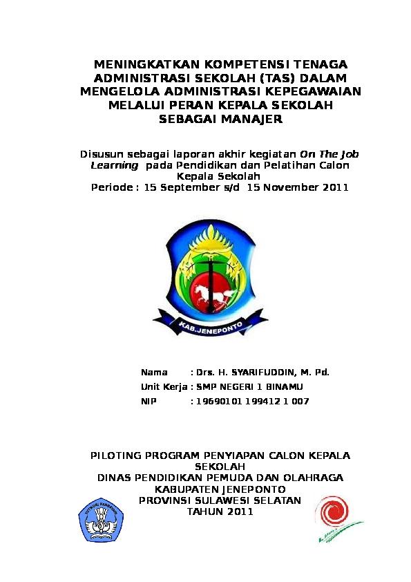 Contoh Laporan Akhir Tahun Kepala Sekolah Kumpulan Contoh Laporan