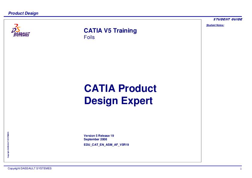 PDF) Product Design Expert CATIA V5   Gonzalo Anzaldo Muñoz