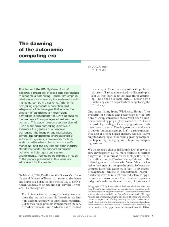 Autonomic Computing Pdf
