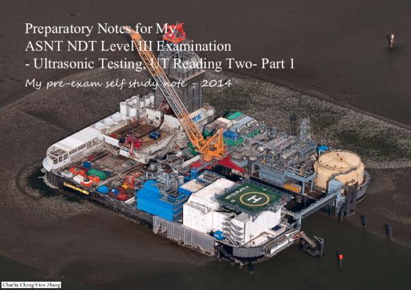 PDF) Understanding UT Testing - My ASNT self study notes on