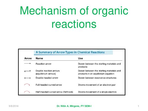PDF) Fundamentals of organic reaction mechanisms fybsc sem-I