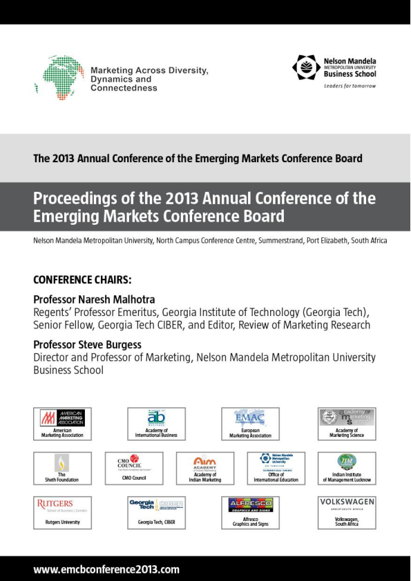 PDF) 2013 Annual EMCB Conference Proceedings (3) | Adele