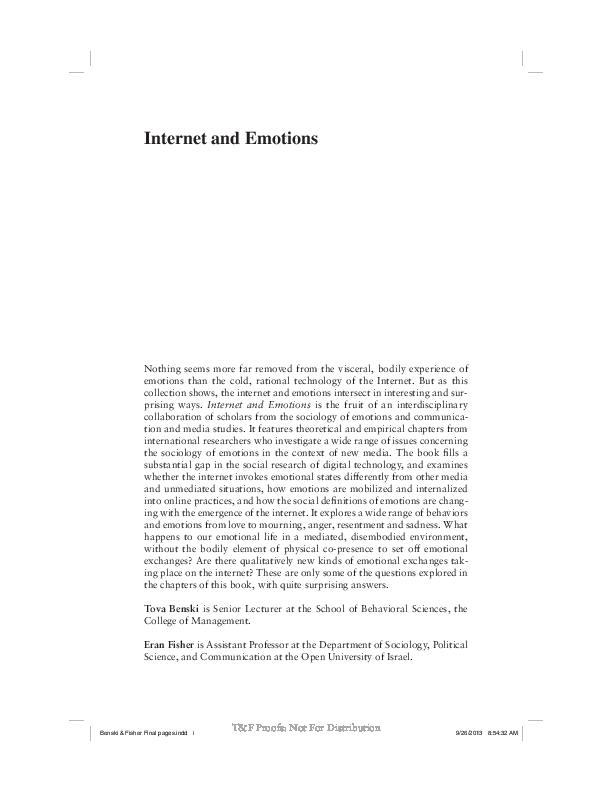 a3581fa73dd8 PDF) BOOK  Internet and Emotions