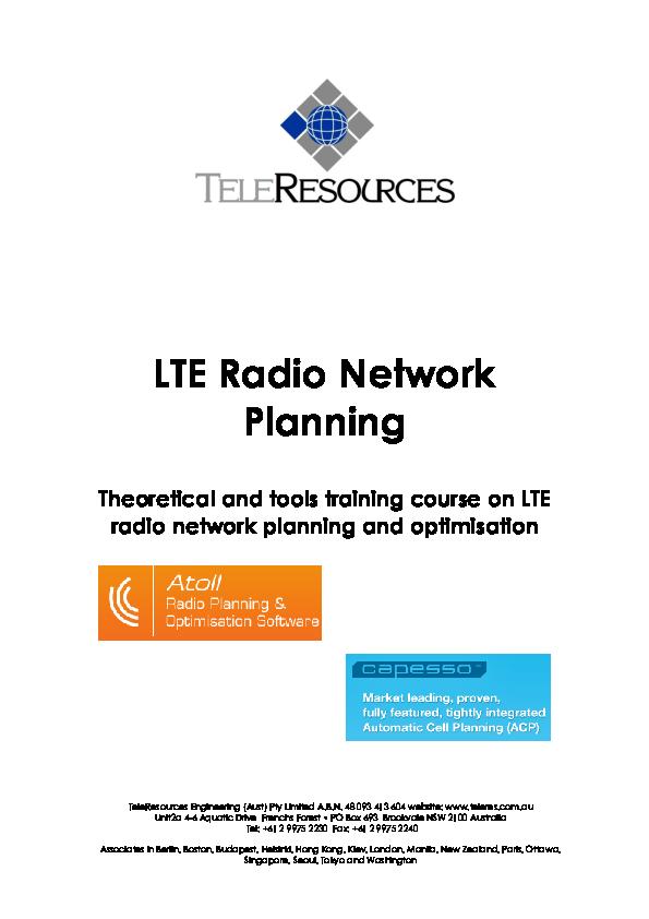 PDF) LTE Planning Outlines | Honey Charnalia - Academia edu