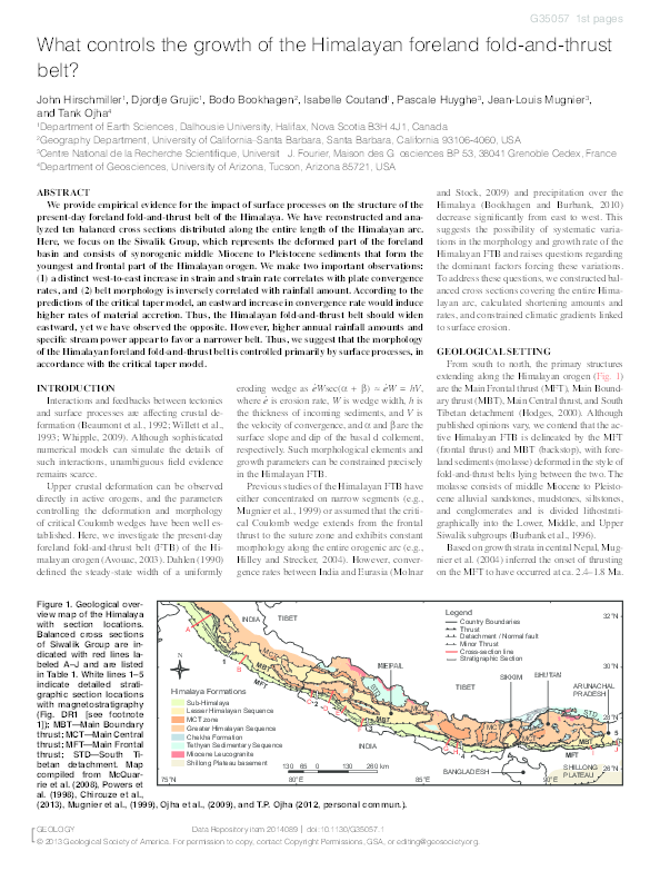 PDF) What controls the growth of the Himalayan foreland fold-and