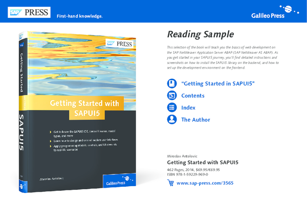 PDF) Reading sample sappress getting started with sapui5