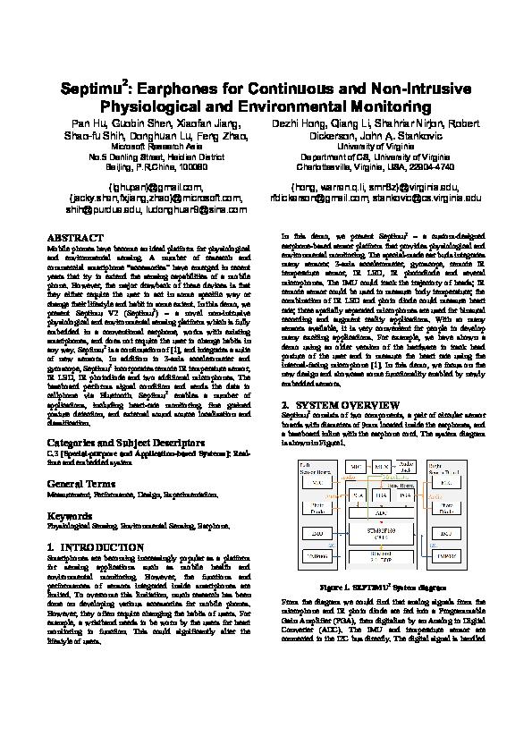 PDF) Septimu 2 : Earphones for Continuous and Non-Intrusive