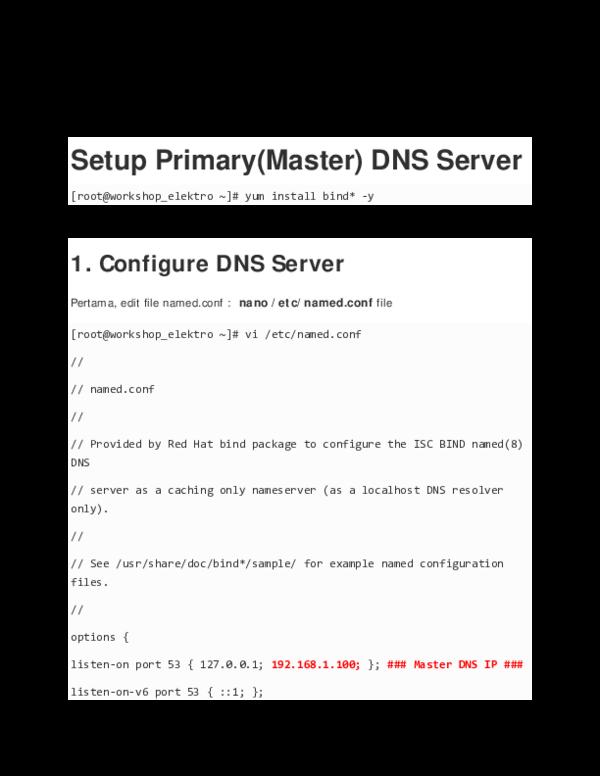PDF) Install DNS server di CentOS | Iguskun Iguskun