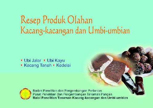 Pdf Resep Produk Olahan Kacang Kacangan Dan Umbi Umbian