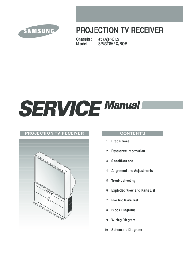 PDF) Samsung Electronics Alignment and Adjustments | Steve