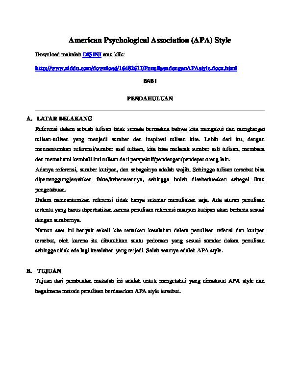 Doc American Psychological Association Santhy Ucok Academia Edu