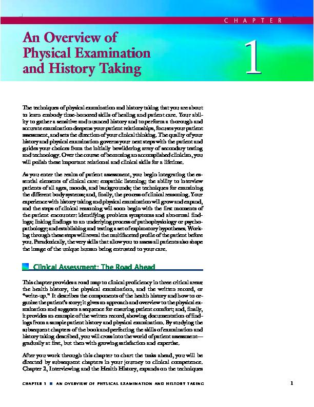 Bates' Pocket Guide to Physical Examination and History ...