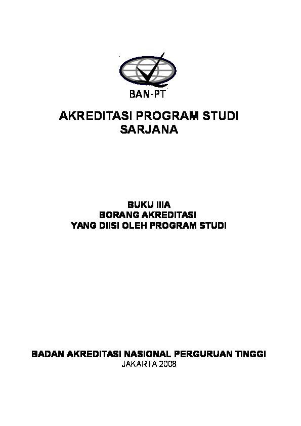 Doc Buku 3a Borang Akreditasi Sarjana Ria Devi Academia Edu