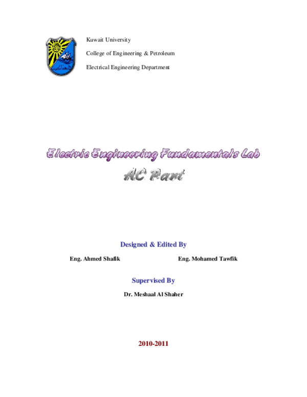 PDF) AC Manual   Mohammed Almohammed - Academia edu